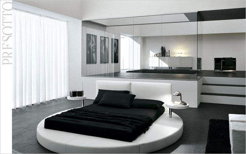 Presotto Lit double rond Lits doubles Lit Chambre | Design Contemporain