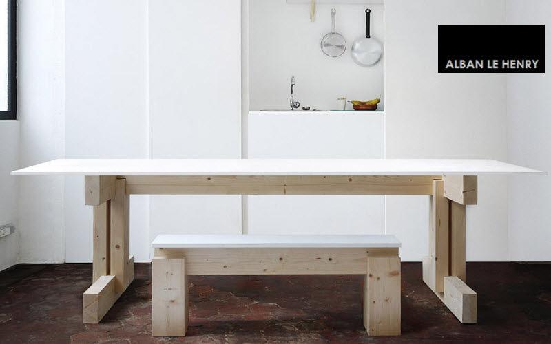 ALBAN LE HENRY Table de repas rectangulaire Tables de repas Tables & divers  |