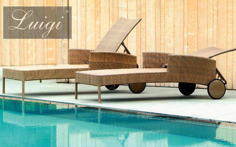 LUIGI Bain de soleil Chaises longues Jardin Mobilier Jardin-Piscine | Charme