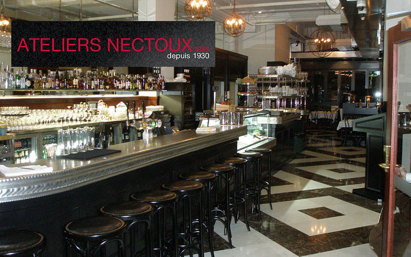 ATELIERS NECTOUX COMPTOIR EN ETAIN Comptoir de bar Bars Tables & divers  |