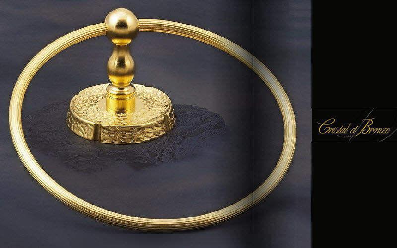 Cristal Et Bronze Anneau porte-serviette Accessoires de salle de bains Bain Sanitaires  |