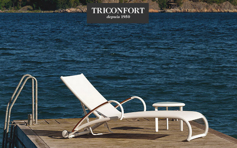 Triconfort Chaise longue de jardin Chaises longues Jardin Mobilier  |