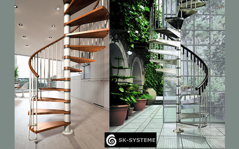 SK-SYSTEME Escalier hélicoïdal Escaliers Echelles Equipement  |