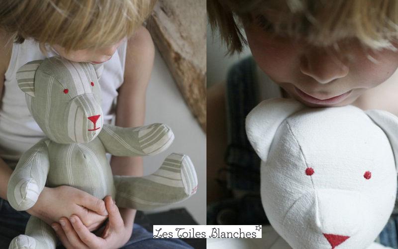 LES TOILES BLANCHES Ours en tissu Poupées Peluches Jeux & Jouets  |
