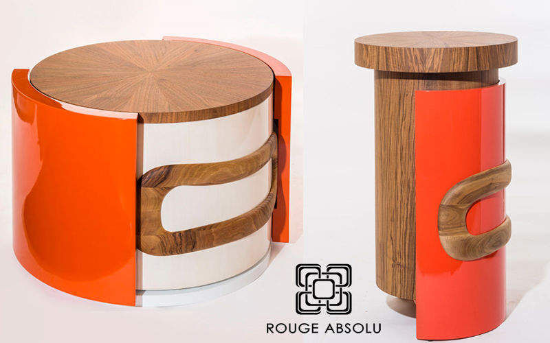 ROUGE ABSOLU Table basse ronde Tables basses Tables & divers  |