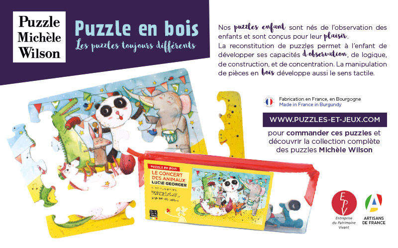 Puzzle Michele Wilson Puzzle enfant Jeux d'adresse et de logique Jeux & Jouets  |