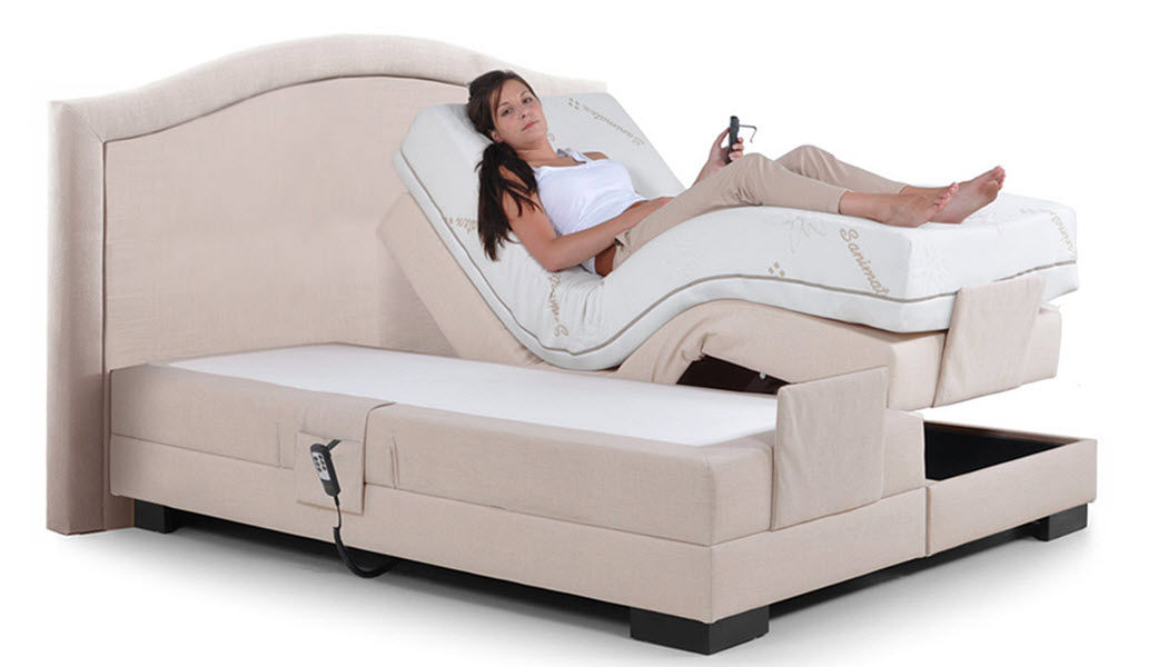 SANIMATEX Sommier de relaxation électrique Sommiers Lit  |