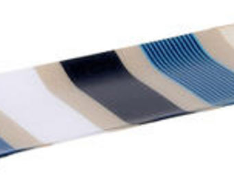 Artiga - plat � cake garlin en coton et acrylique 39x15.5x2 - Plateau