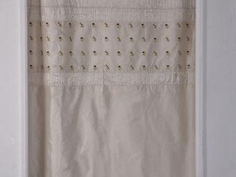 Coquecigrues - paire de rideaux balancelle ivoire - Rideaux Pr�ts � Poser