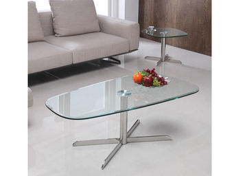 WHITE LABEL - table basse link - transparent - Table Basse Rectangulaire