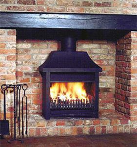 Foyer de cheminée à porte escamotable