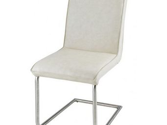 MEUBLES ZAGO - chaise tokyo - lot de 2 - cr�me - Chaise