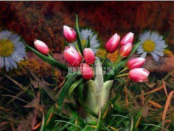 Magel'design - le vase en étain 120x90 cm , 3d effet relief - Tableau Contemporain