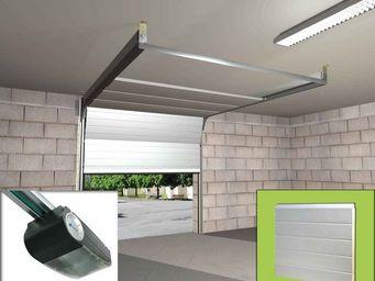 Wimove - ensemble porte sectionnelle motorisee panneaux rai - Automatisme Et Motorisation Pour Porte De Garage