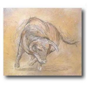 DEFACTO DÉCO - tableau décoratif taureau 2 - Impression Numérique Sur Toile
