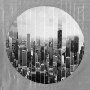 JOHANNA L COLLAGES - windy city : vue panoramique 2 - Tableau Contemporain