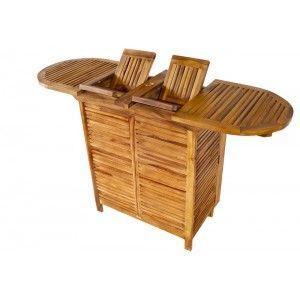 wood-en-stock - bar de jardin en teck huilé exclusivité wood-en-st - Bar De Jardin