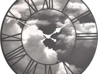 Nextime - horloge nuages avec effet relief 39cm - Horloge Murale