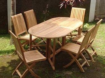 COMPTOIR D'OUTREMER -  - Table De Jardin Ovale