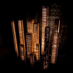 Cécile Mairet - lampe en bois - Colonne Lumineuse