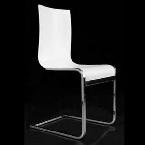 Smart Boutique Design - chaises en bois teinté blanc jack lot de 4 - Chaise