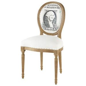 Maisons du monde - chaise louis dollar - Chaise Médaillon