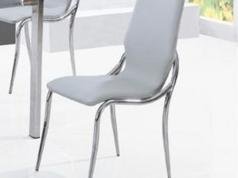 CLEAR SEAT - chaises grises kiss lot de 4 - Chaise