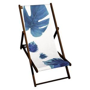 TROIS MAISON - toile de transat - feuille bleue - Chaise