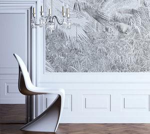 IN CREATION - forêt tropicale au crayon - Papier Peint Panoramique