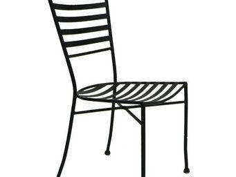 Medicis - chaise b�lier en fer forg� avec coussin (lot de 4) - Chaise De Jardin
