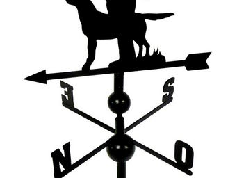 BARCLER - girouette chasseur et son chien en fer forgé 106x4 - Girouette