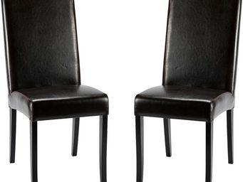 ZAGO - chaise léa marron en bycast et bouleau 42x50x100cm - Chaise