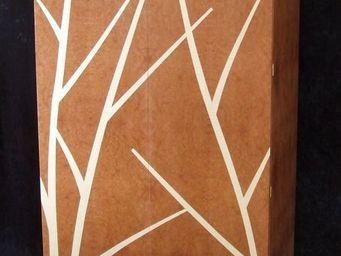 DAAN KOERS ÉBÉNISTE - armoirette bouleaux sur fond de brume - Armoirette