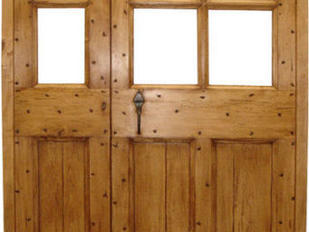 Portes Anciennes - mod�le cochoni�re tierce vitr�e en tilleul - Porte De Communication Pleine