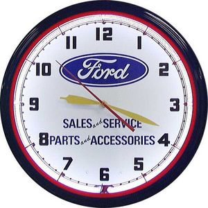 US Connection - horloge néon ford sales and service - Horloge Murale