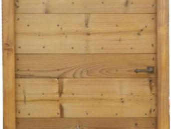 Portes Anciennes - mod�le � lames crois�es en pin thermotrait� - Porte De Communication Pleine