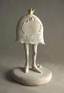 MALIFANCE ICI LA TERRE - princesse caillou - Sculpture