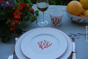 Inès de Nicolaÿ - corail - Service De Table