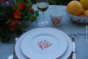 In�s de Nicola� - corail - Service De Table