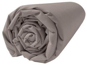 BLANC CERISE - drap housse - percale (80 fils/cm²) - uni moka - Drap Housse