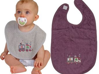 SIRETEX - SENSEI - bavoir bébé scratch brodé en voiture - Bavoir