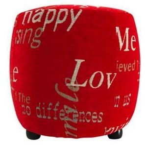 International Design - pouf love - couleur - rouge - Pouf
