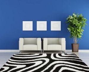 NAZAR - tapis chillout 160x230 black-white - Tapis Contemporain