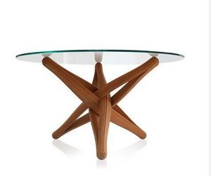 PLANKTON avant garde design - lock bamboo dining table - Table De Repas Ronde