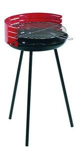 Dalper - barbecue à charbon rond en acier 42x77cm - Barbecue Au Charbon