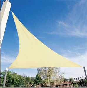 VERANOVA - voile d'ombrage triangulaire écrue en polyester 3 - Voile D'ombrage