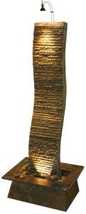 Cactose - fontaine vague en pierre de schiste multicolore 63 - Fontaine D'intérieur