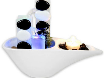 ZEN LIGHT - fontaine d'intérieur piro avec éclairage led mult - Fontaine D'intérieur