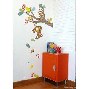 SERIE GOLO - sticker mural les singeries de kiki 97x97cm - Sticker Décor Adhésif Enfant