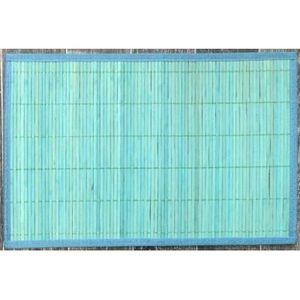 ILIAS - lot de 4 sets de table bambou turquoise - Set De Table